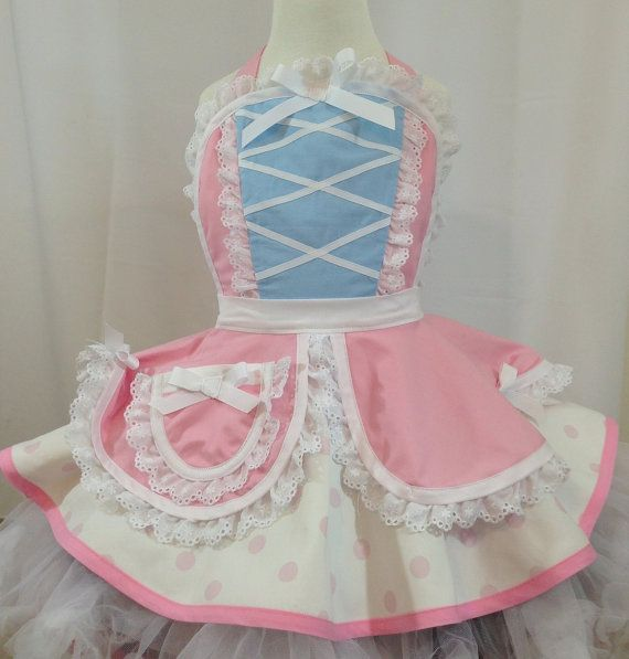 Delantal de Bo Peep de chicas de vestir / por SassyFrasCollection