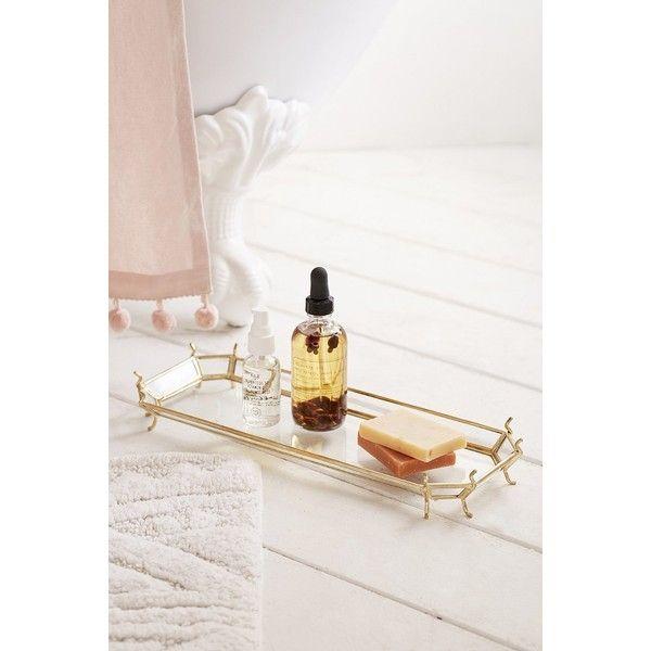 Pic On Plum u Bow Karlina Bath Tray featuring polyvore home bed u bath bath bath accessories yellow