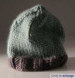 simple chunky hat pattern using Mrs Moon Plump