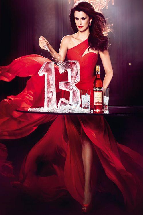 Oscar Winning Actress, Penélope Cruz wears Romona Keveza - Campari Calendar Cover