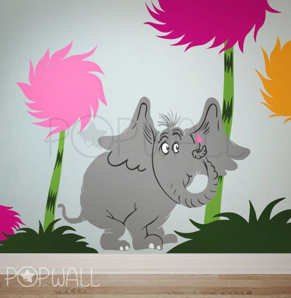 Children Wall Decals Wall Sticker   Dr Seuss Characters, Horton The Elephant Part 41