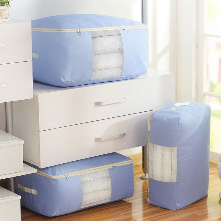 Washable Portable Oxford Clothes Quilts Storage Bags Folding Container