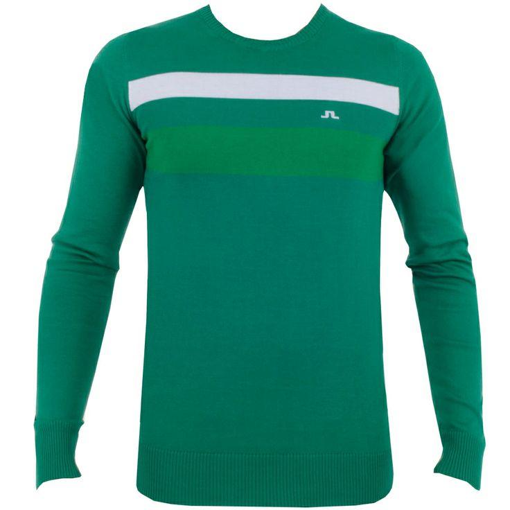 J Lindeberg Dirk Striped Fine Cotton Green #golf #fashion #trendygolf #jlindeberg