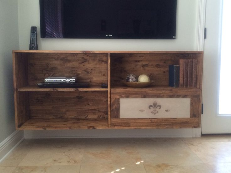Homemade Floating Tv Stand Tv Stand Pinterest