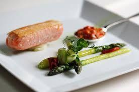 Semi confit salmon Chef Daniel Galmiche