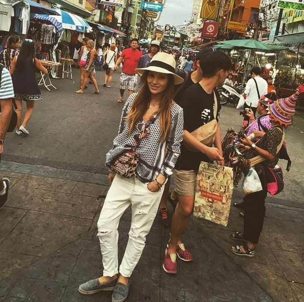 Marina Łuczenko in Thailand, I love what She's wearing