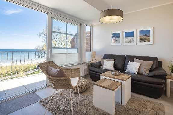 Wohnzimmer Blick auf die Ostsee Wohnung