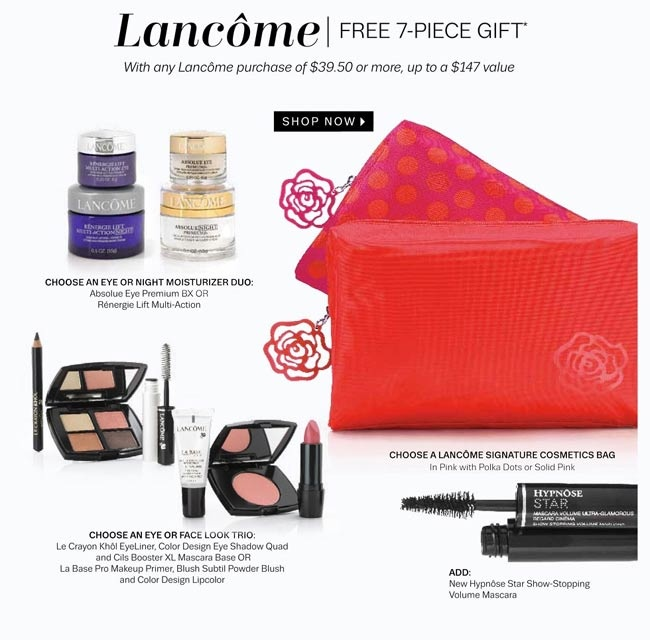 Choose your Lancome gift http://cliniquebonus.org/lancome-gift-with-purchase/