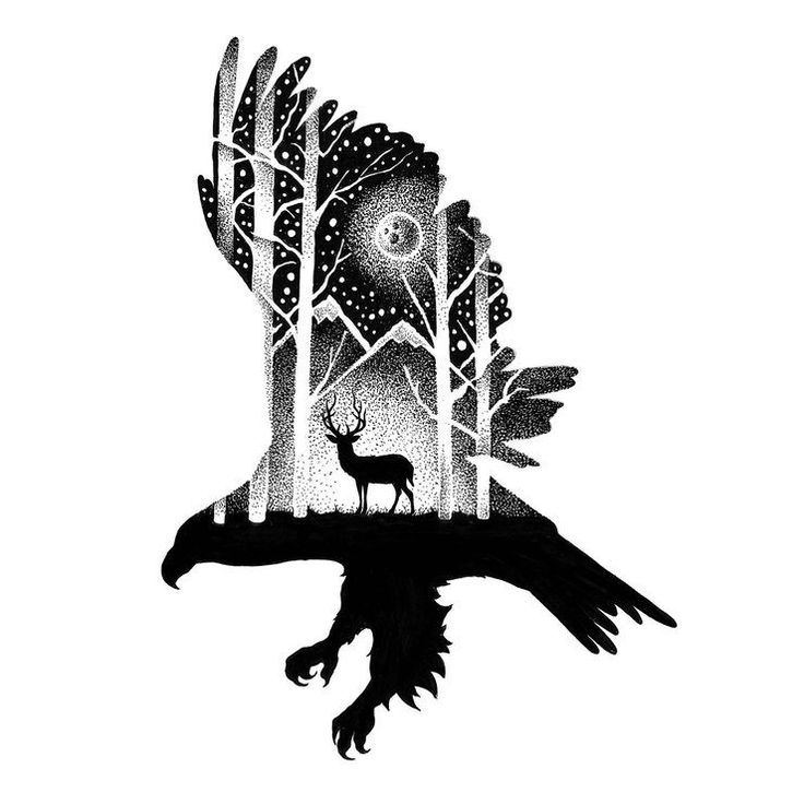 Gorgeous Double Exposure Wildlife Illustrations By Thiago Bianchini Gorgeous…