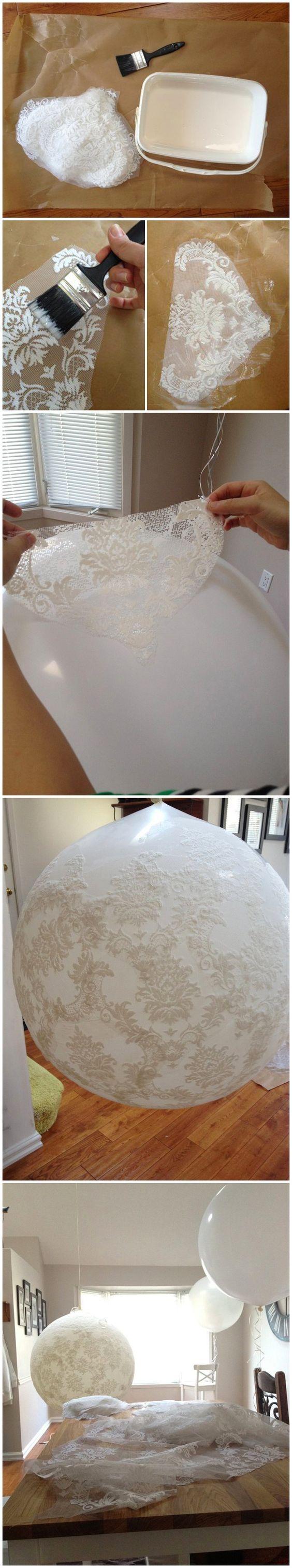 Balones con encaje blanco - Tu boda DIY