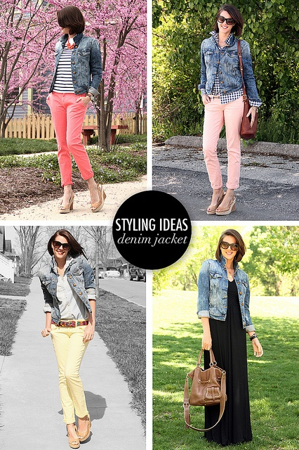 Jean Jacket Styling via whatiwore.tumblr.com by What I Wore, via Flickr