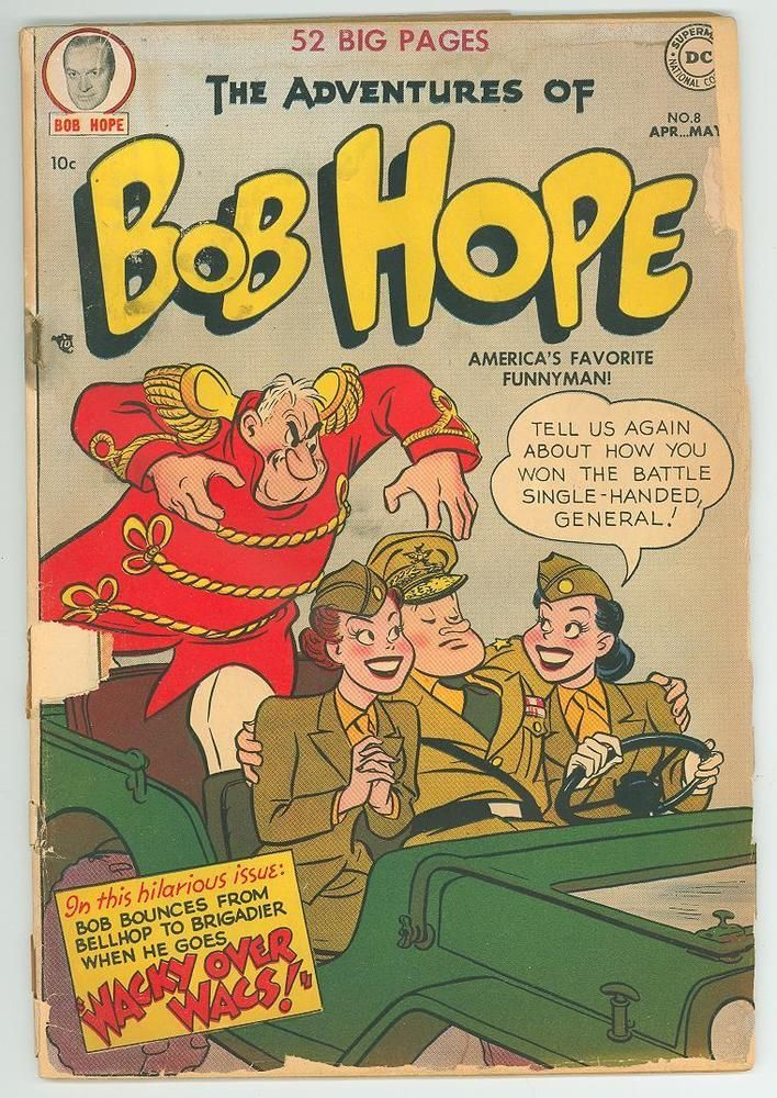The Adventures Of Bob Hope 8 1 8 2 0 1951 Gc Ll Bob Hope Golden Age Comics Classic Comic Books