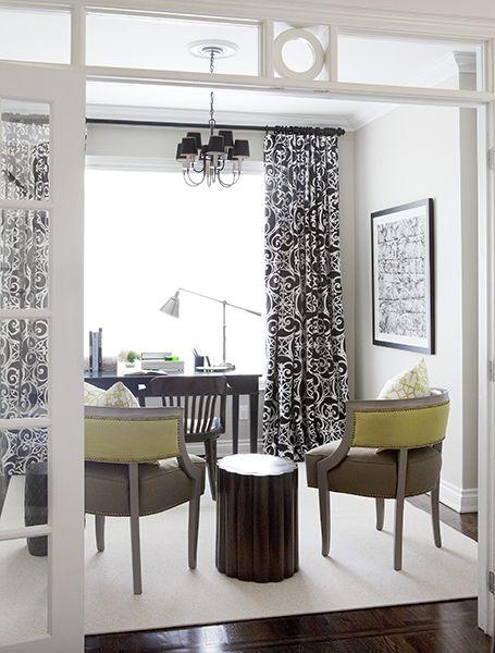 Beautiful office - great palette - beautiful transom & French doors - Samantha Pynn