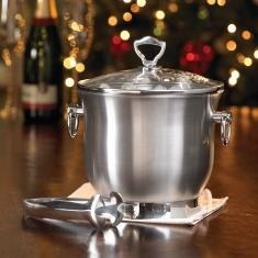 Princess Heritage® Stainless Steel   Insulated Ice Bucket w/Lid & Tongs