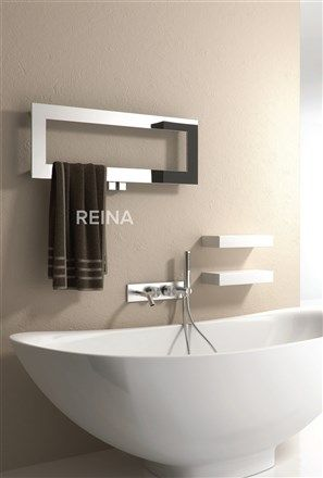 The Reina Bivano Stainless Steel heated towel rail. The Practical solution  for small spaces in