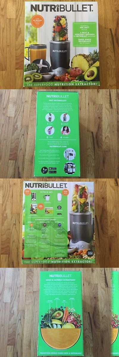Small Kitchen Appliances: Brand New In Box Nutribullet 8-Piece Nutrition Extractor Blender Juicer 600 Watt BUY IT NOW ONLY: $65.0
