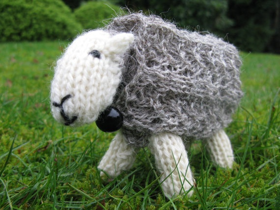 Knit yourself a Herdwick sheep on sale in my Etsy shop Sheep&goats Pi...