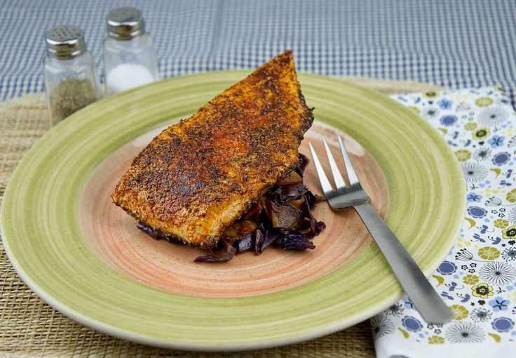 Blackened Salmon / @DJ Foodie / DJFoodie.com