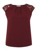 Womens **Billie & Blossom Mulberry Lace Shell Top- Mulberry