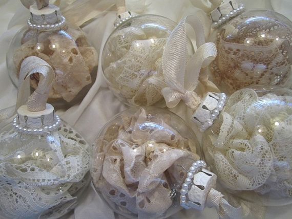 Vintage lace ornaments. These would be perfect for my tree!!!! Someone buy these for me