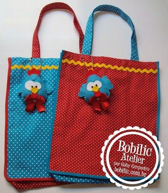 Bolsa Ecobag Galinha Pintadinha - Bobilic Atelier