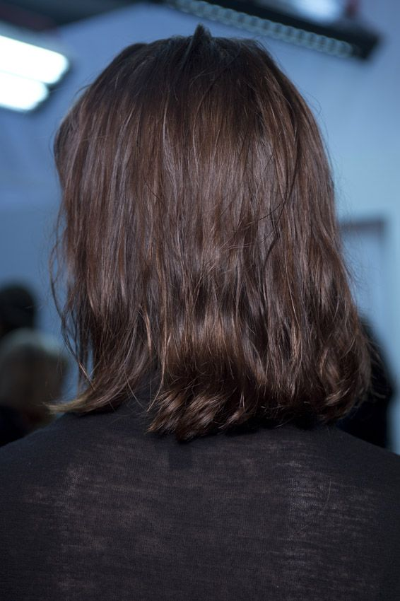 The Lob (long bob) is a must have look this season! Created by Stephen Low at Eudon Choi SS16