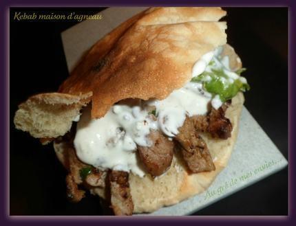 Kebab maison d'agneau