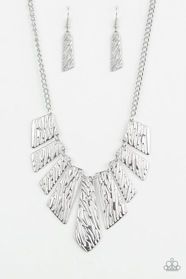 c190ad086 Texture Tigress Silver Necklace | Paparazzi Accessories | $5.00 in ...
