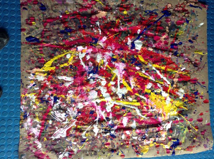 Un ejemplo de mi Action Painting #ActionPainting