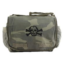 Black Scribble Skull Camo Diaper Bag | Front