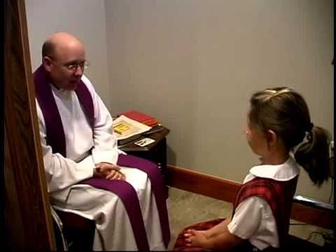 """First Reconciliation video ... a very, nice short video with a simple explanation of the Sacrament of Reconciliation and showing """"behind the confessional door."""""""