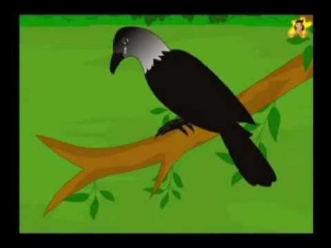The fox and the crow - animated small story for kids.