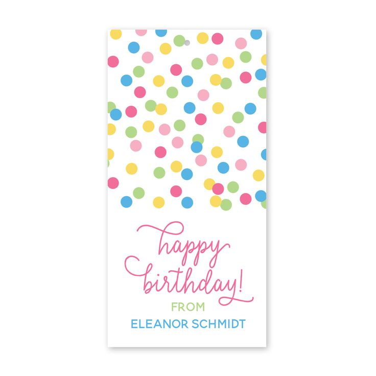 16 best birthday gift tags stickers images on pinterest boys and confetti personalized birthday gift tags l peony hill press personalized gift stickers tags make signing your childs name to all those birthday gifts negle Images