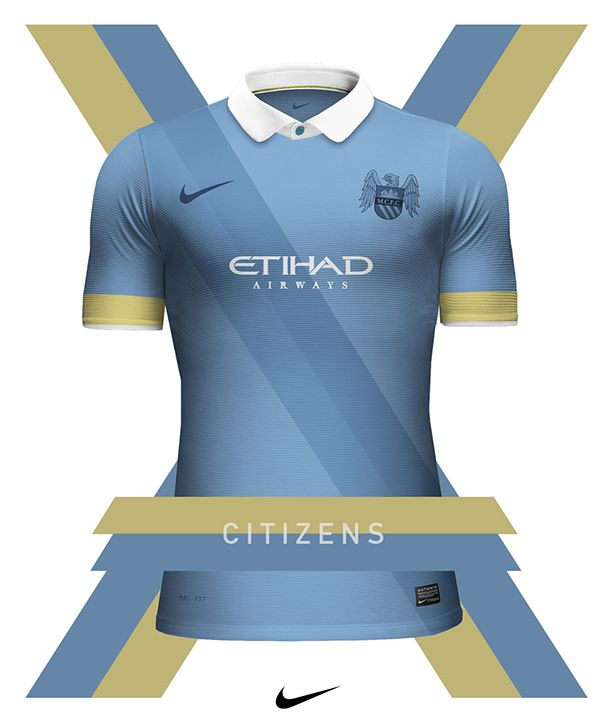 Concept of Nike club football jerseys I designed during a free afternoon.