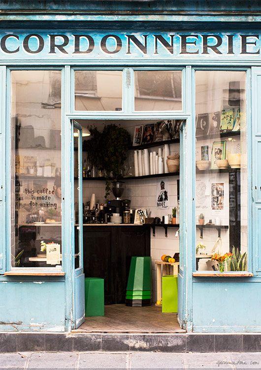 Le Boot Café, Paris, coffee shop/Garance Doré
