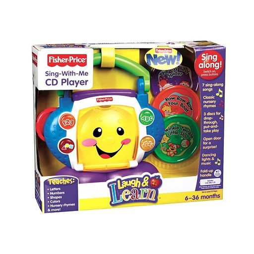 Fisher-Price Laugh & Learn Sing-With-Me Toy CD Player