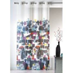 Rideau contemporain motif peinture