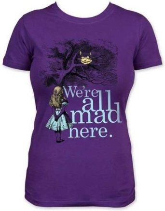 I found 'Alice In Wonderland Lewis Carroll We're All Mad Here Cheshire Cat Soft Babydoll T-Shirt Tee' on Wish, check it out!Aliceinwonderland