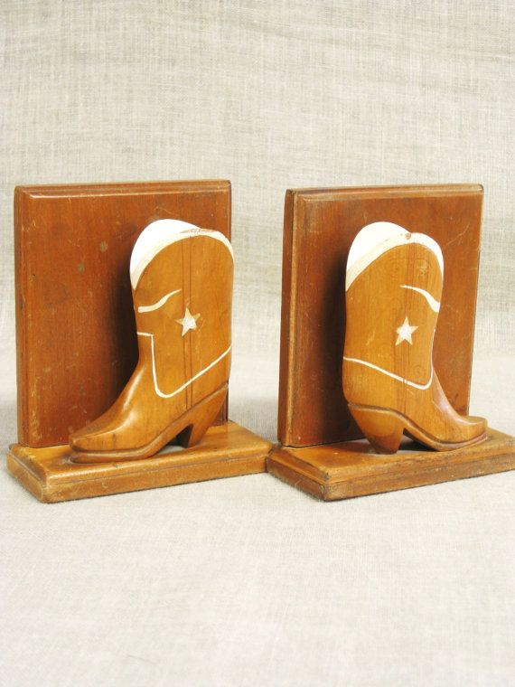 Bookends , Cowboy Boot , Western Style , San Antonio , Boots , Library ,  Antique