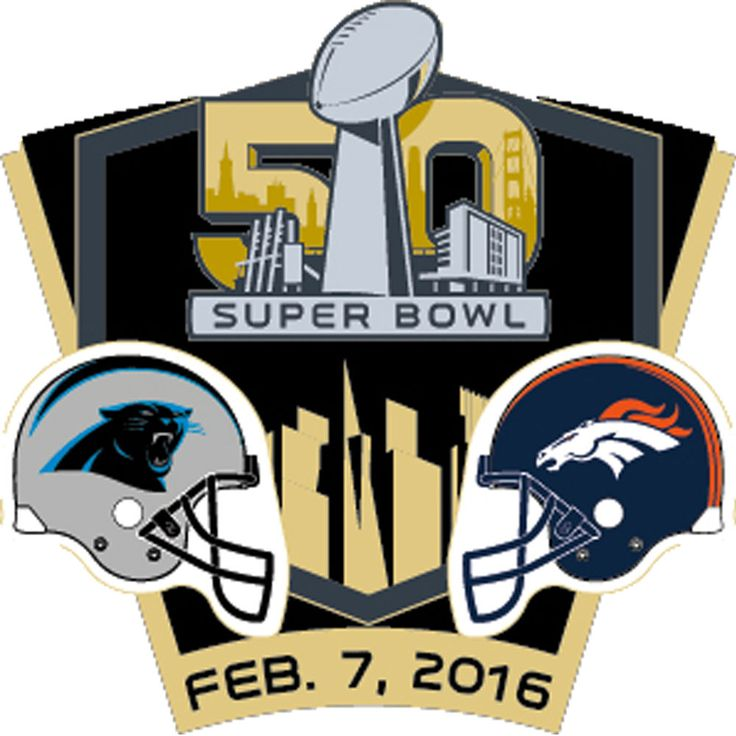2016 NFL Super Bowl 50 Dueling Denver Broncos vs. Carolina Panthers Collect Pin #Wincraft #CarolinaPanthers