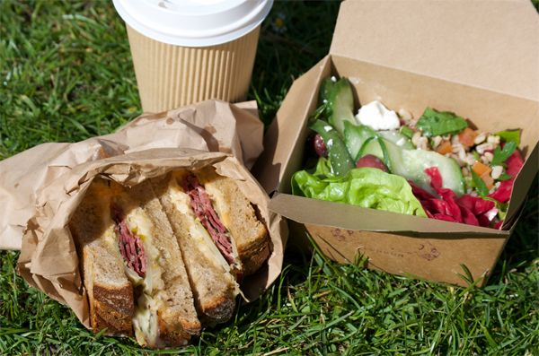 Yummy takeaway food from Pitfield Winchester! #takeaway #food #lunch #winchester #salad