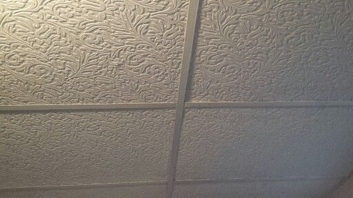 Best 25 drop ceiling makeover ideas on pinterest - Can you wallpaper drop ceiling tiles ...