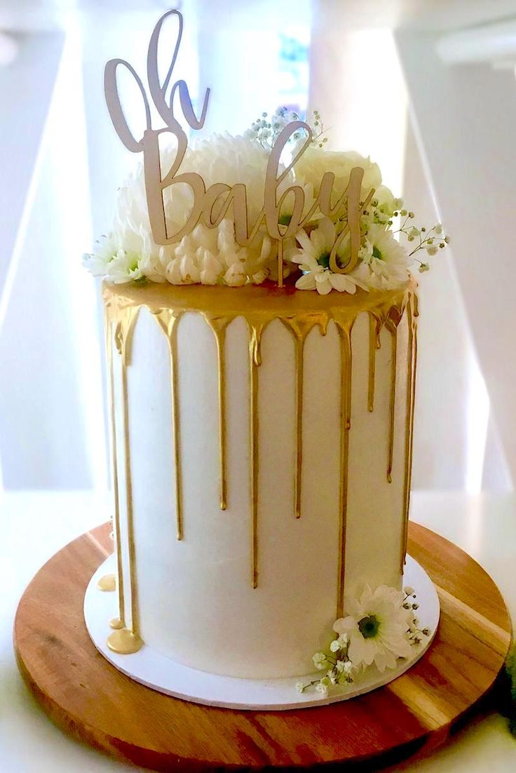 how to make a drip cake for a baby shower