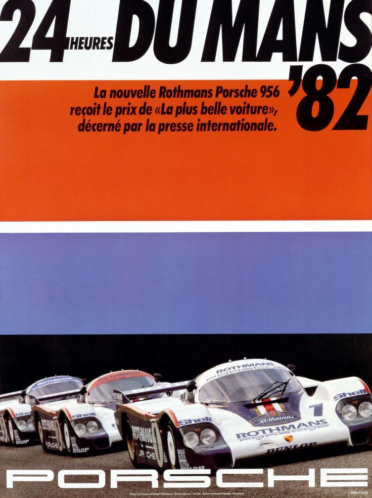 1982 24 hours of le mans 956 porsche poster illustrations cars porsche plakat und schilder - Garage volkswagen le mans ...
