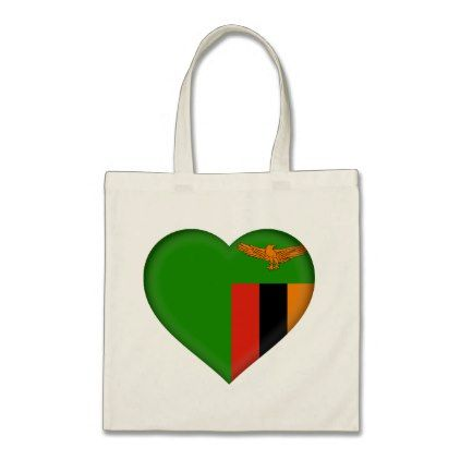#Zambia Flag Tote Bag - #country gifts style diy gift ideas