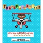 65+ page Freebie  PreK-K: Transportation Theme, Thematic Writing, Math Centers, Excited United, Literacy Center, Transportation United, Education Transportation, Writing Journals, Math Journals