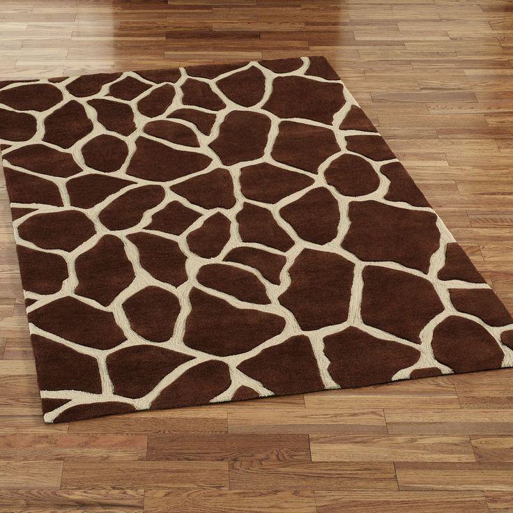 Giraffe Area Rug - love the textile idea for the baby's room
