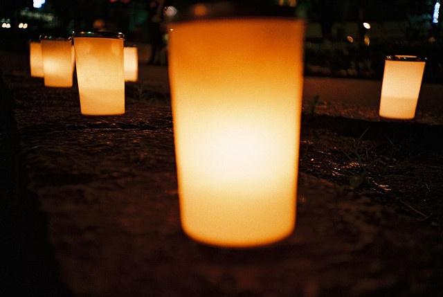 Candle night at Nagoya !!  Candles everywhereCandles Night