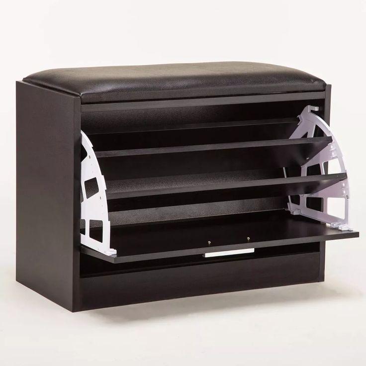 banco organizador de zapatos gabinete de madera