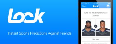 The LOCK Instant Sports Predictions Against Friends App Launch (Picture of Seattle Seahawks Russell Wilson and Marshawn Lynch)